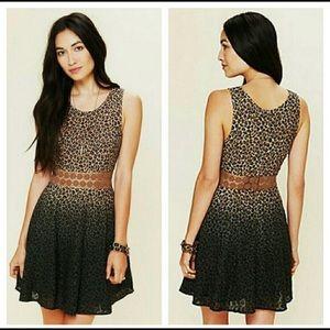 Free People Leopard Daisy waist dress, 8